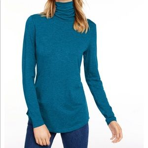 🛍 Maison Jules Teal Gem Turtleneck Top